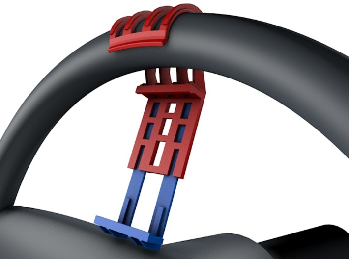 Steering Wheel Phone/GPS Quick Clip 3d printed Quick snap GPS right where you need it.