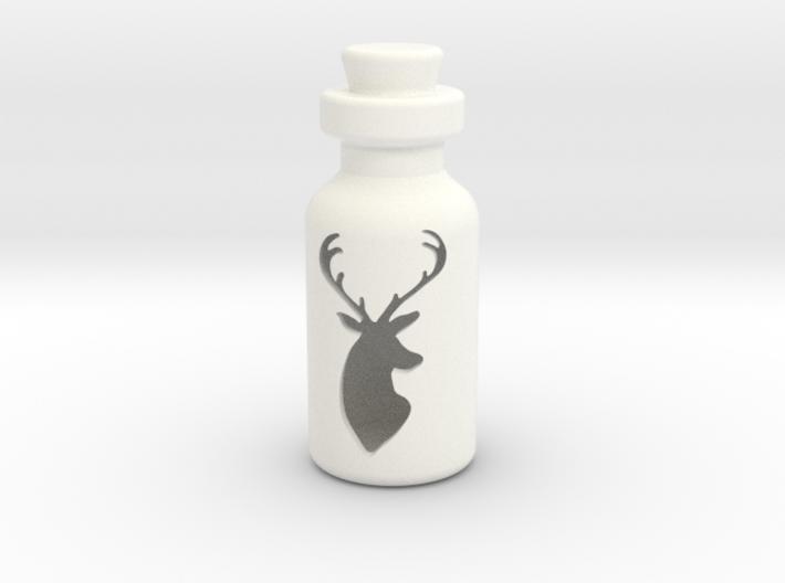 Small Bottle (deer Head) 3d printed