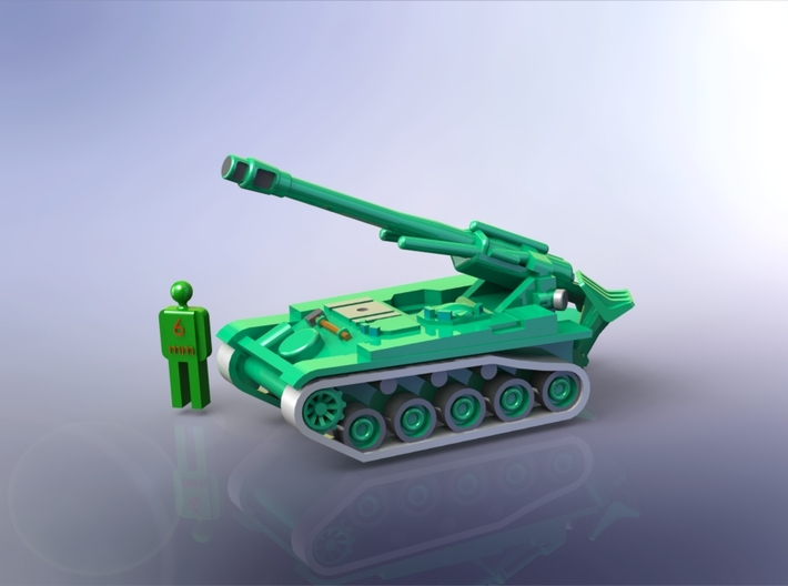 French AMX 13 F3 155mm SPG 1/285 6mm 3d printed