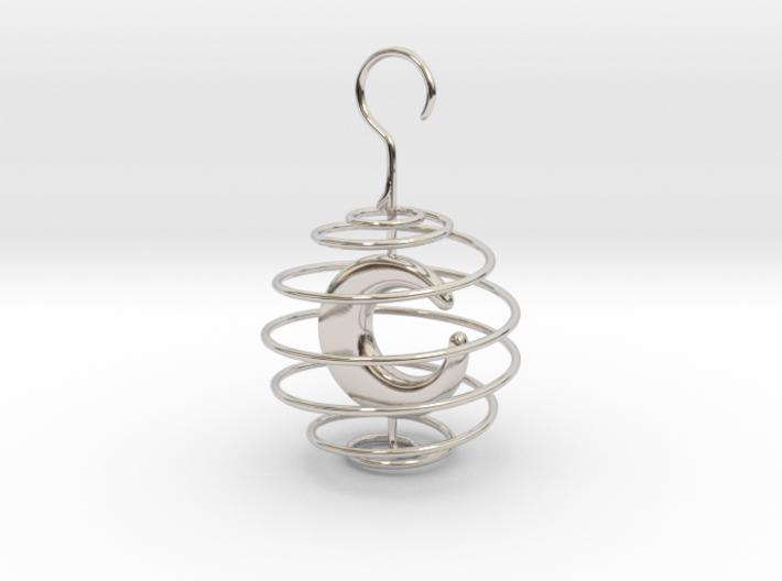 Crescent Ornament 3d printed