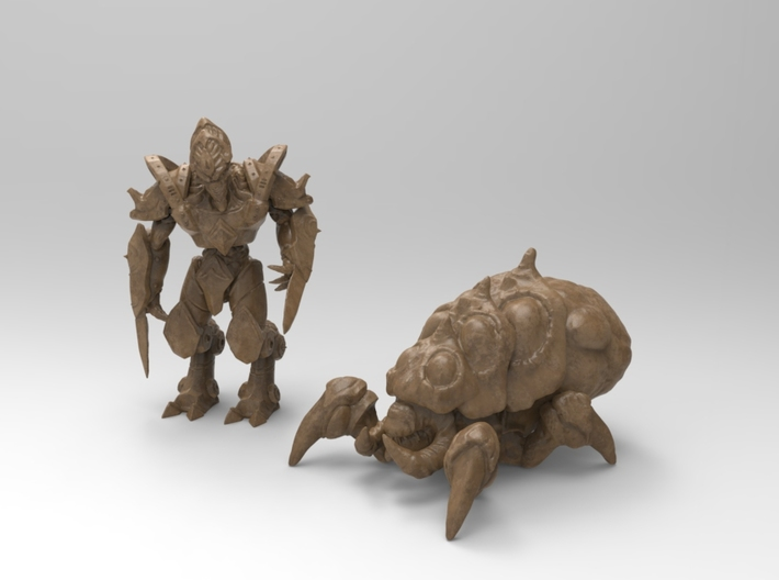 Zealot 29.5mm 3d printed Zealot next to baneling for size comparison