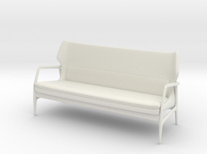 1:24 Mid-Century Lounge Sofa 3d printed