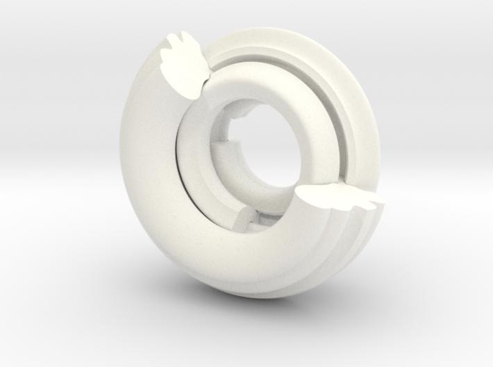 White Wabi Sabi Ring 3d printed