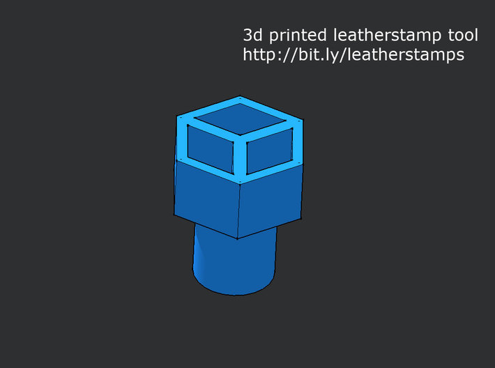 Leather stamp 6, honeycomb design + tool 3d printed hexagonal/ honeycomb leather stamp design printed in 3d