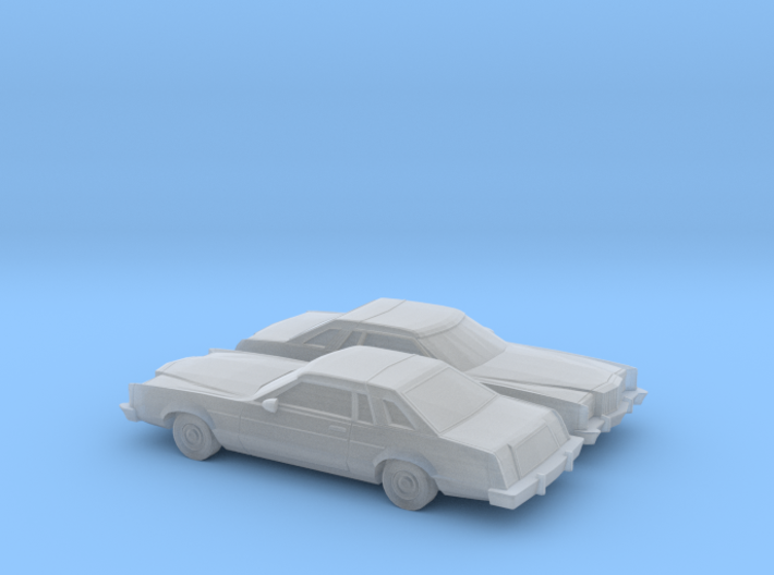 1/160 2X 1977-79 Mercury Cougar XR 7 3d printed