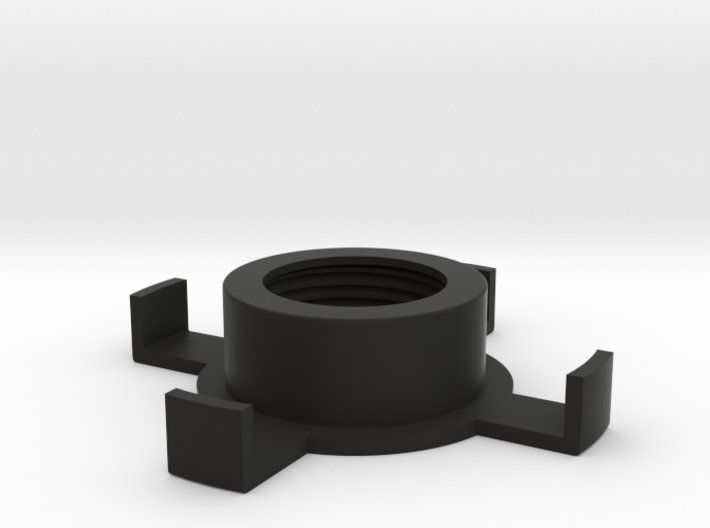 """Lampstand for 3/4"""" Black Pipe 3d printed Screws on pipe to suspend an insulator as a shade"""
