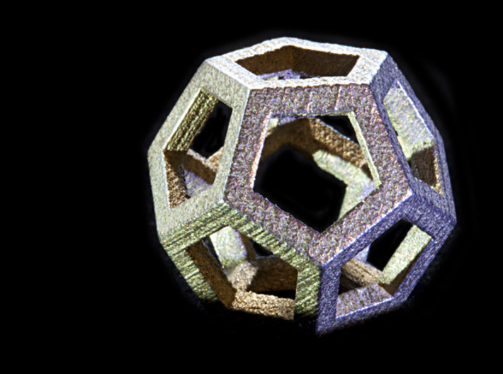 Dodecahedra, 1 Inch, 5 sided sections - smpl matrl 3d printed Loving this material, far more exciting products on the way in glued & fused steel.