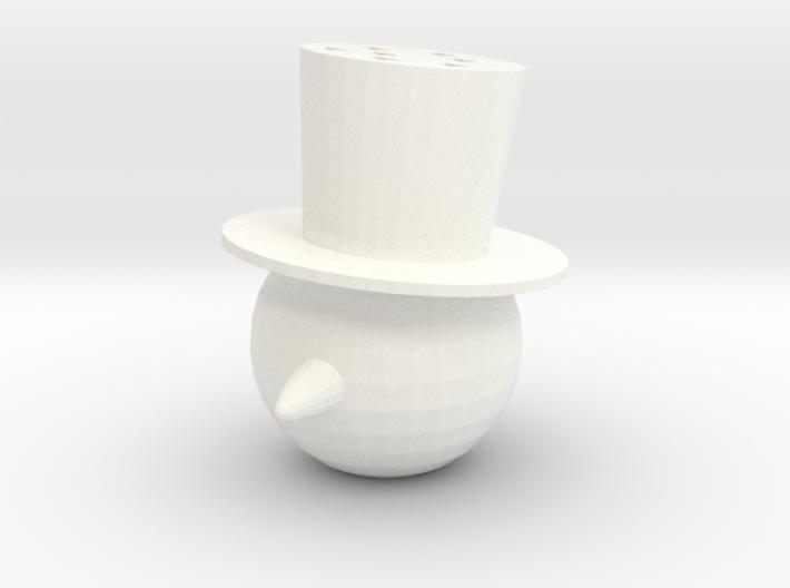 Snowman Head Ornament 3d printed