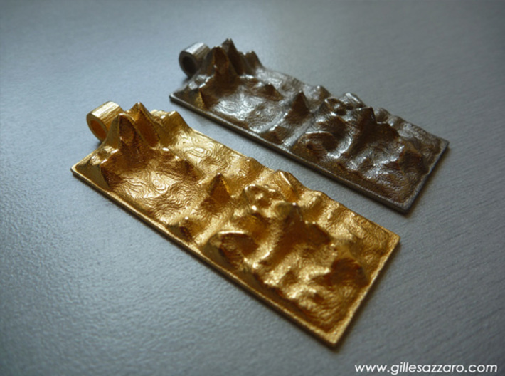 Love Is The Answer (L'Amour Est La Réponse) 3d printed Polished gold steel - Polished Nickel steel