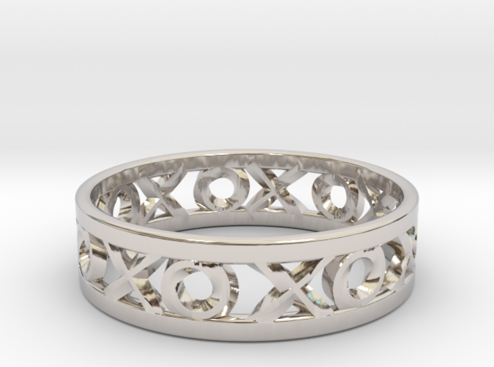 Size 10 Xoxo Ring 3d printed