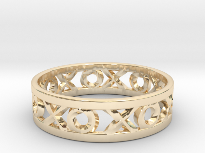 Size 13 Xoxo Ring 3d printed