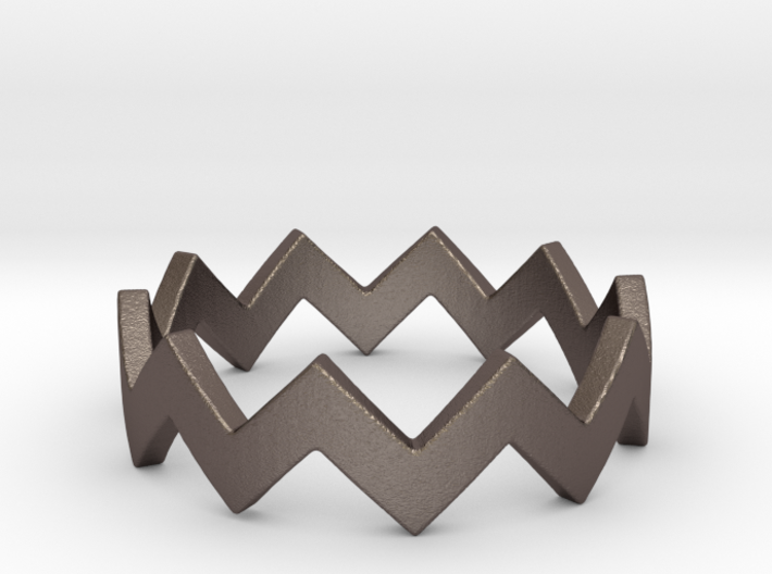 Zig Zag Wave Stackable Ring Size 4 3d printed