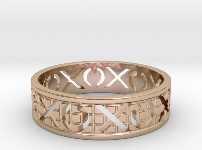 Size 9 Xoxo Ring A 3d printed