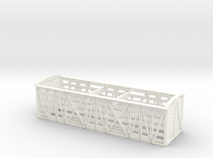 GWR 6 Wheeled Siphon - Part 2 Diag O4 High Roof 3d printed
