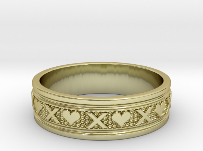 Size 11 Xoxo Ring B 3d printed