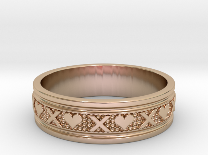 Size 12 Xoxo Ring B 3d printed