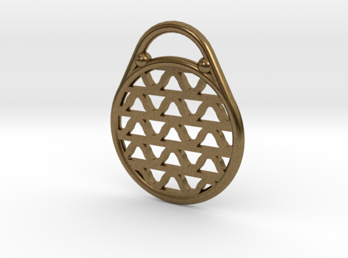 DRAW pendant - waves H 3d printed