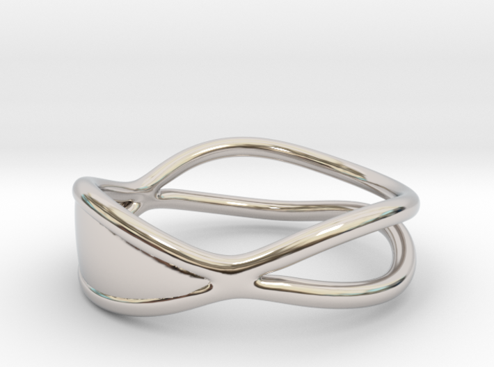 Silver Solid Ring 3d printed
