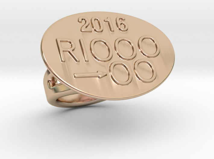 Rio 2016 Ring 14 - Italian Size 14 3d printed