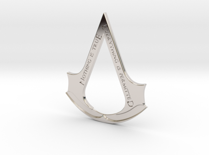 Assassin's creed logo-bottle opener 3d printed