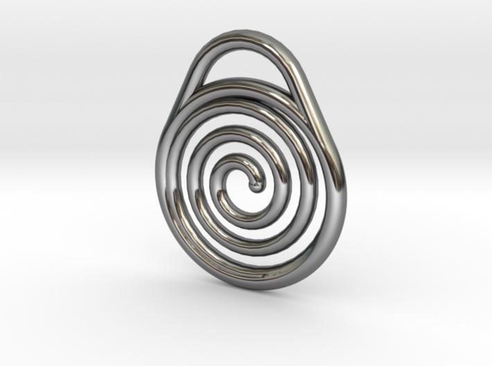 DRAW pendant - hypnotize 3d printed