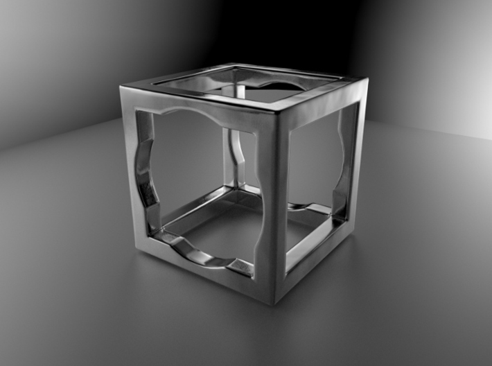 Cube ring size 47mm 3d printed