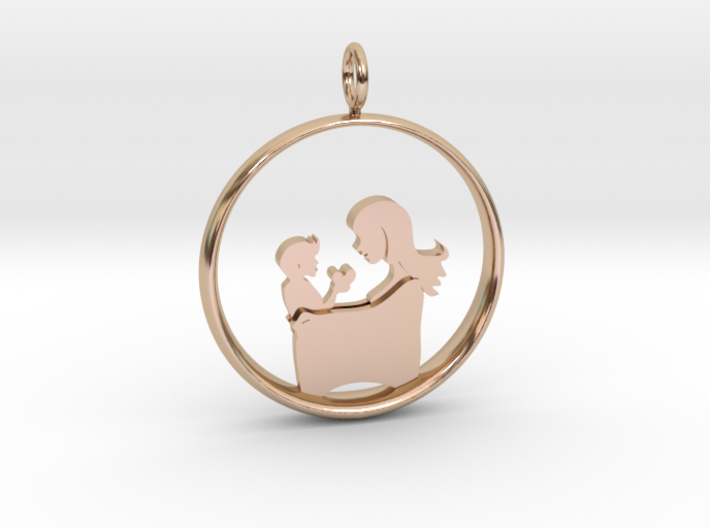 Mother & Son Pendant 3 -Motherhood Collection 3d printed