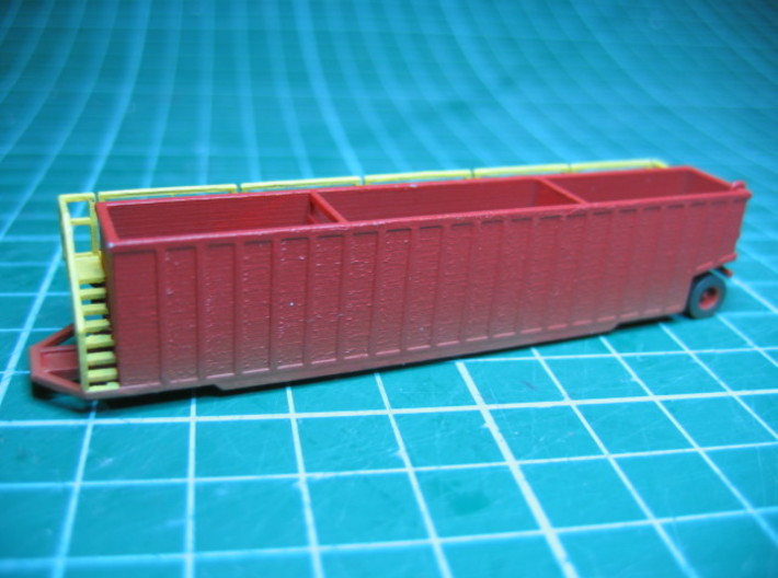 N scale 1/160 Frac Tank 18000 gal Open Weir 3d printed A little weathering makes a difference.