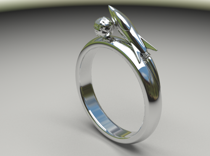 Moon Rocket Ring S 9 2015 3d printed