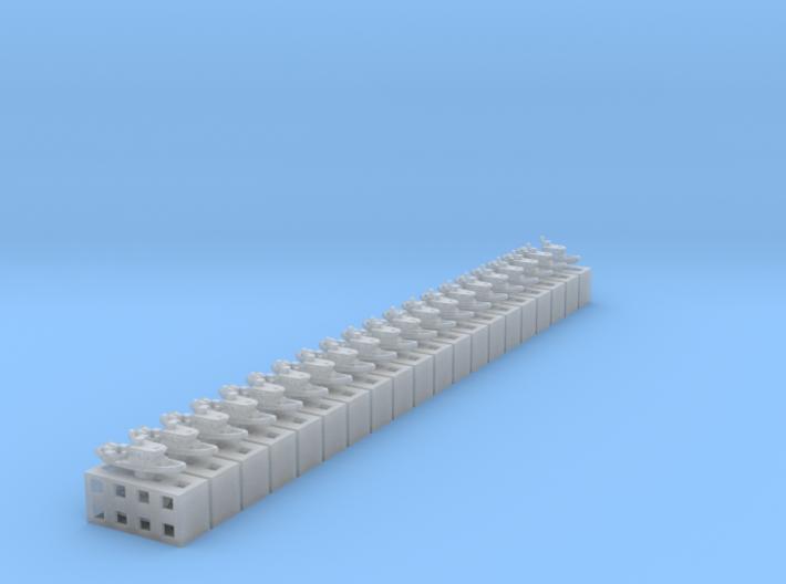 Defender 250 boats 2x20 (1:1250) 3d printed