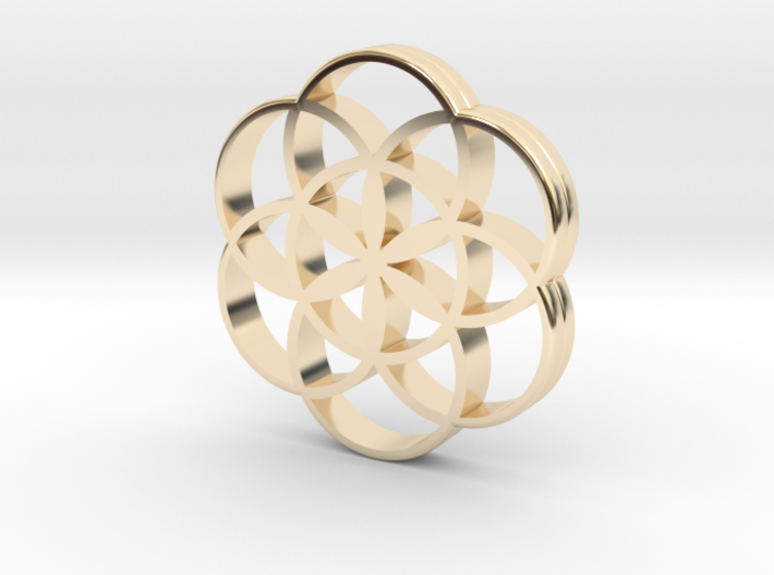 Flower of Life is the source of the universe 3d printed