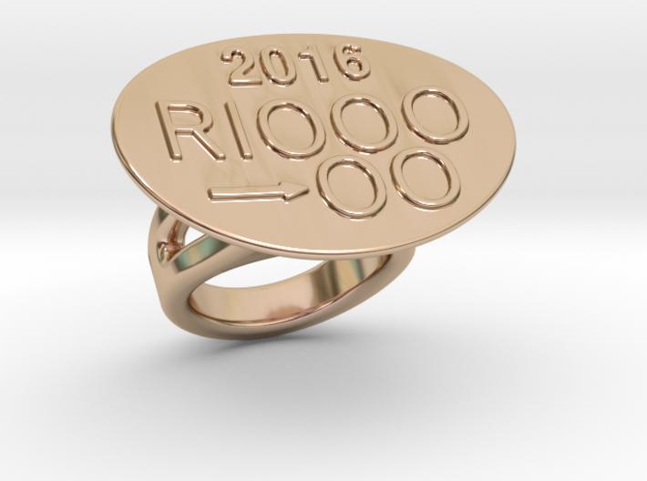 Rio 2016 Ring 16 - Italian Size 16 3d printed
