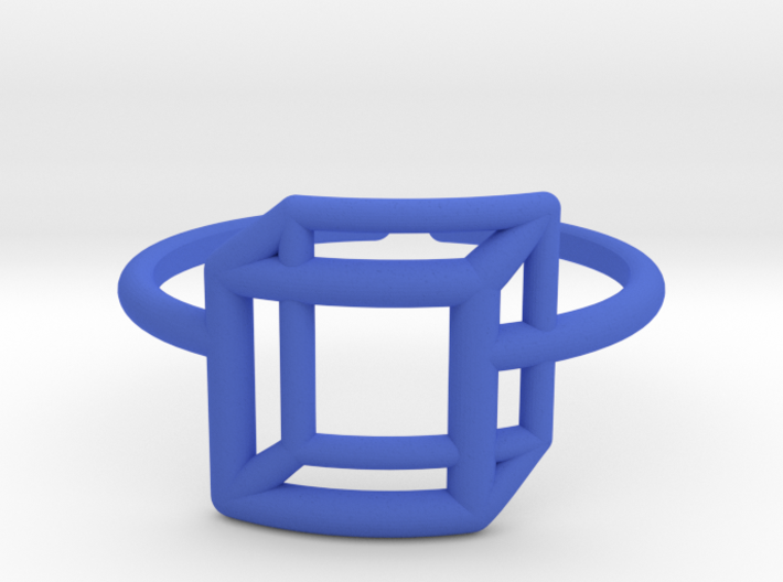 Adjustable 3D Flat Square Ring Size 6 3d printed
