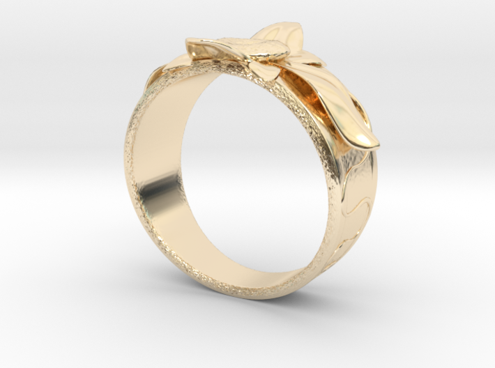 Flower Ring no.10 3d printed