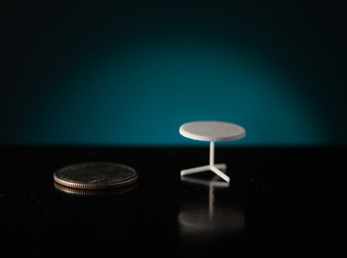 """1:48 36"""" Cafe Table 3d printed"""