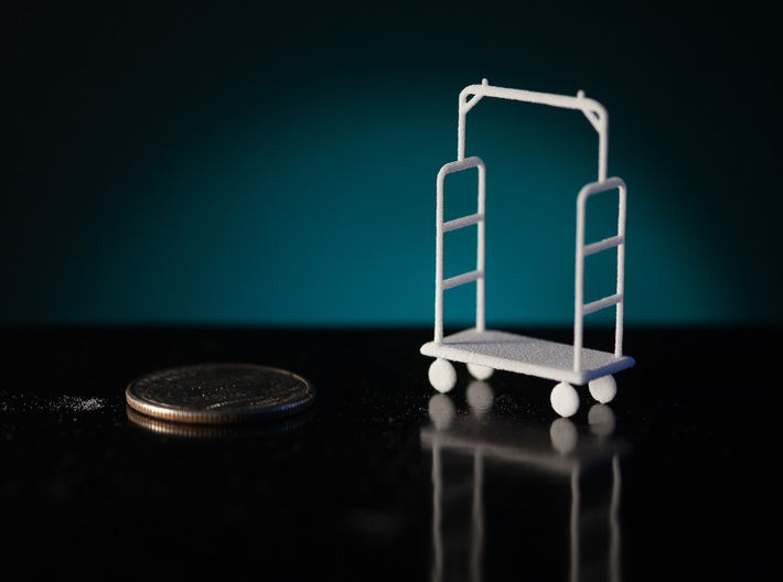 1:48 Luggage Cart 3d printed