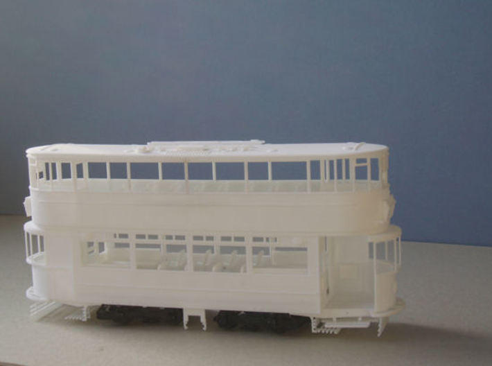 1:43 London Transport E/3 Tram - Part 1 3d printed All parts of the model loosely placed in position