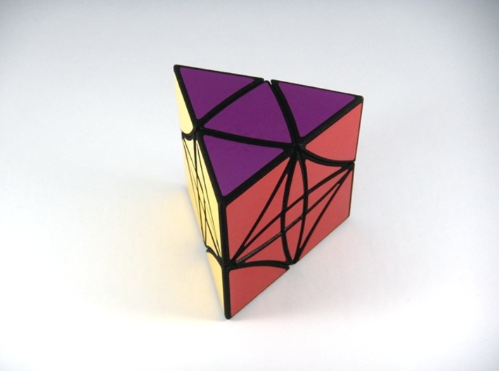 HeliPrism 9 Curvy Puzzle 3d printed View 2