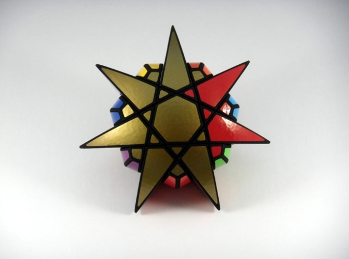 Star of The Seven Puzzle 3d printed Two Turns