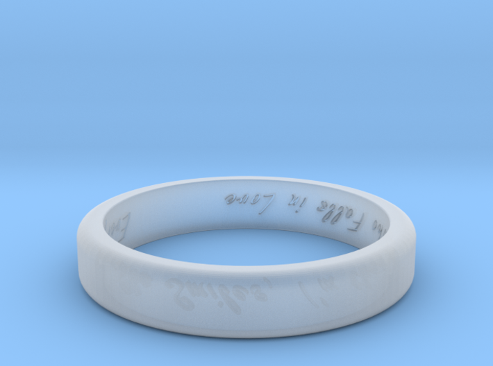Engraved Standard Sized ring 3d printed