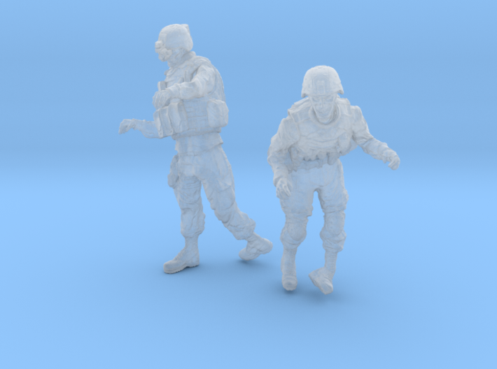 1-35 Military Zombie Set 5 3d printed