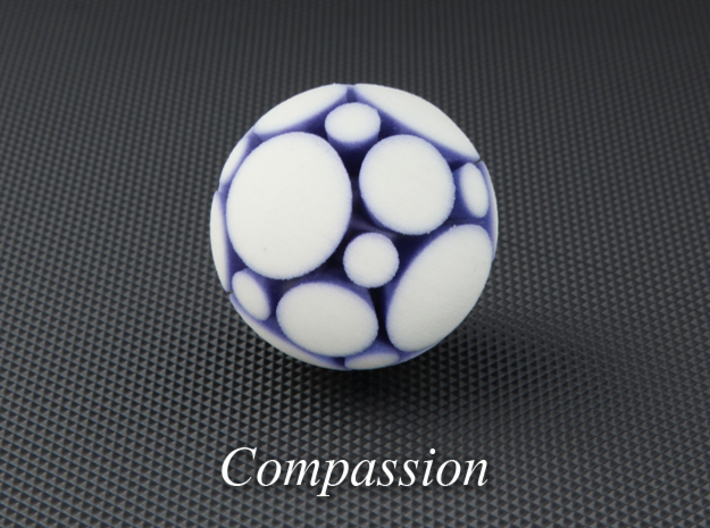 LuminOrb 1.3 - COMPASSION 3d printed Photograph of COMPASSION in Full Color Sandstone