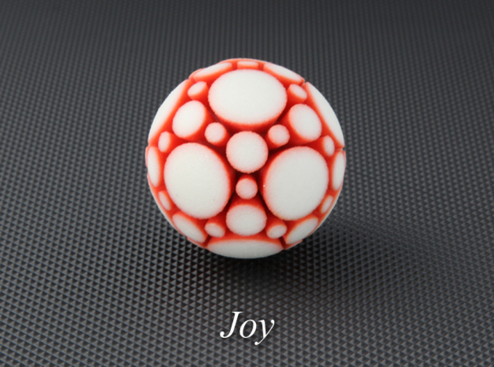 LuminOrb 2.1 - JOY 3d printed Photograph of JOY in Full Color Sandstone