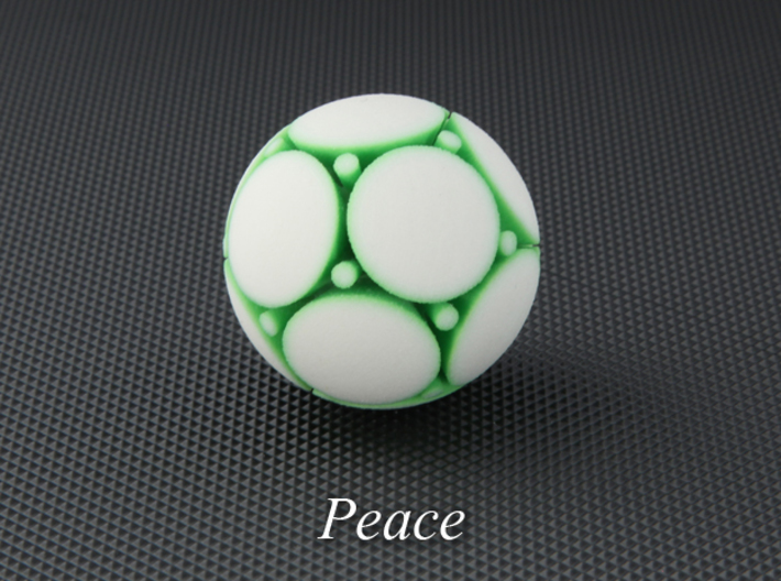 LuminOrb 2.2 - PEACE 3d printed Photograph of PEACE in Full Color Sandstone
