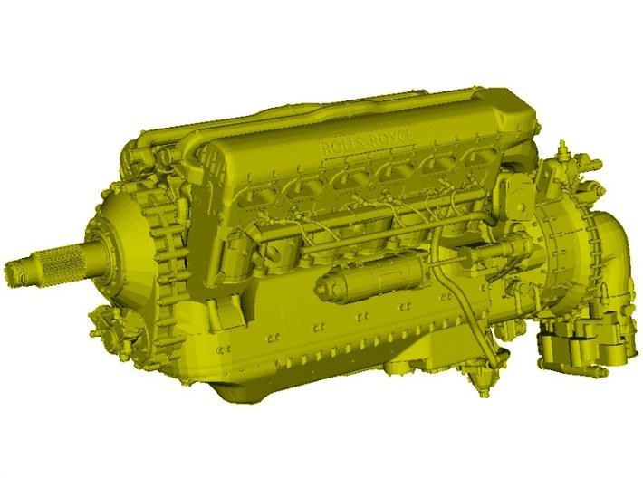 1/18 scale Rolls Royce Merlin 66 engine model kit 3d printed