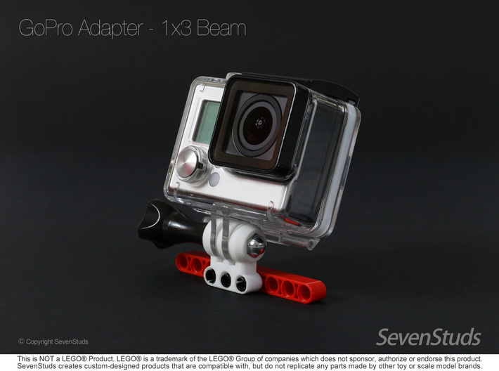 GoPro Mount for LEGO® Technic - 1x3 Beam 3d printed