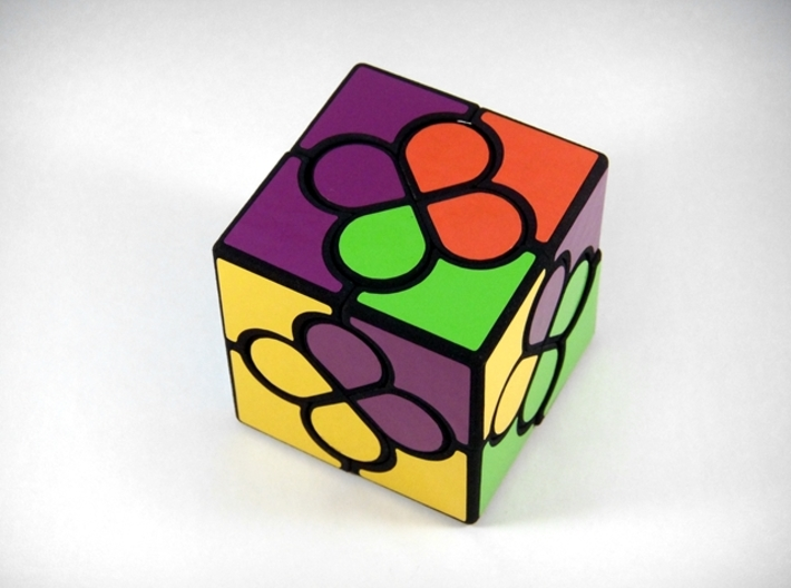Lucky Clover Cube Puzzle 3d printed Two Turns