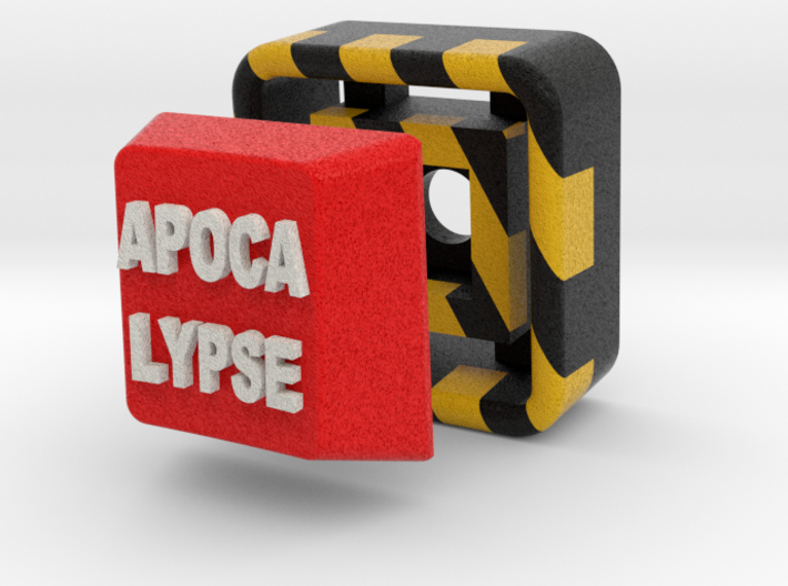 Full Color Button of APOCALYPSE 3d printed