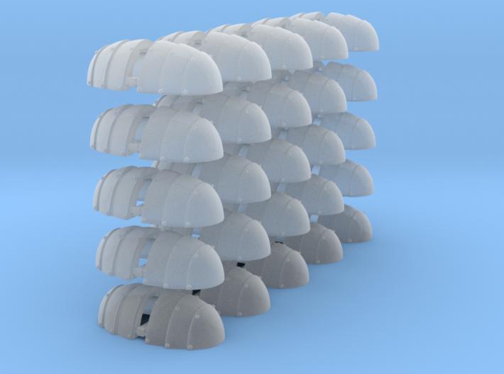 50 Samurai Shoulder pads 3d printed