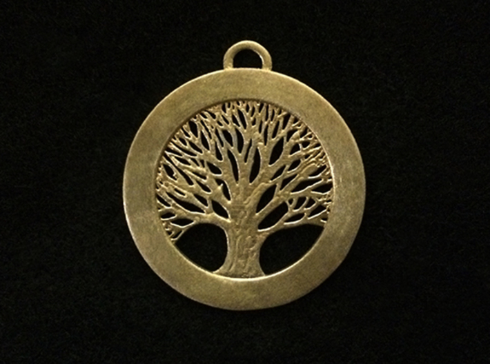 Tree of Life Pendant 3d printed